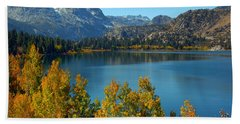 Bath Towel featuring the photograph June Lake Blues And Golds by Lynn Bauer