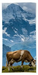 Jungfrau Cow - Grindelwald - Switzerland Hand Towel