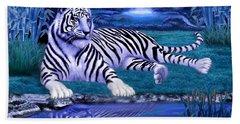 Jungle Tiger Hand Towel by Glenn Holbrook