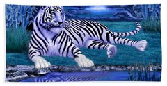 Jungle Tiger Bath Towel by Glenn Holbrook