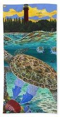 Jupiter Turtle Hand Towel