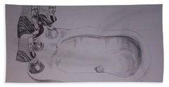 Hand Towel featuring the drawing Jurisbidencia by Lazaro Hurtado