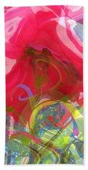 Just A Wild And Crazy Rose Hand Towel by Brooks Garten Hauschild