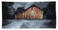 Night Time Barn Hand Towel