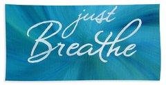 Just Breathe - Aqua Hand Towel