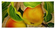 Bath Towel featuring the photograph Just Pears by Judy Palkimas