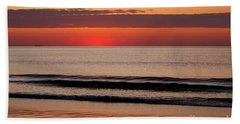 Bath Towel featuring the photograph Just Showing Up Along Hampton Beach by Eunice Miller