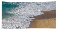 Just Waves And Sand By Kaye Menner Bath Towel