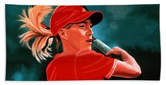 Justine Henin  Hand Towel by Paul Meijering