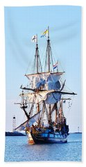 Kalmar Nyckel Tall Ship Hand Towel