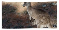 Kangaroo And Joey Bath Towel