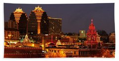 Kansas City Plaza Lights Hand Towel