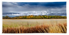Kansas Fall Landscape Bath Towel