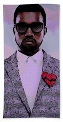 Kanye West Poster Hand Towel by Dan Sproul