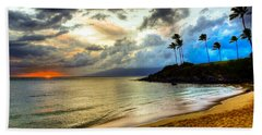 Kapalua Bay Sunset Hand Towel by Kelly Wade