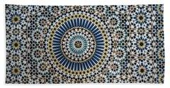Kasbah Of Thamiel Glaoui Zellij Tilework Detail  Bath Towel