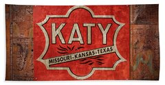 Katy Railroad Sign Dsc02853 Hand Towel by Greg Kluempers