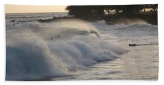 Bath Towel featuring the photograph Kauai - Brenecke Beach Surf by HEVi FineArt