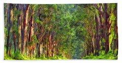 Kauai Tree Tunnel Hand Towel by Dominic Piperata
