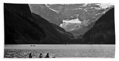 Kayak On Lake Louise Bath Towel