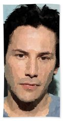 Keanu Reeves Portrait Bath Towel