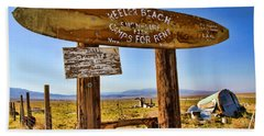 Keeler Beach Camping By Diana Sainz Bath Towel
