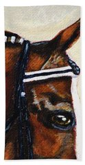 Hand Towel featuring the painting Keen by Angela Davies