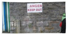 Keep Out Aran Islands Ireland Bath Towel