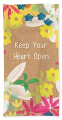 Keep Your Heart Open Hand Towel