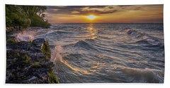Kelleys Island At Sunset Bath Towel