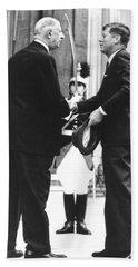 Kennedy & De Gaulle Meet Bath Towel