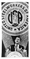 Kennedy Speaks To Steelworkers Hand Towel