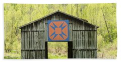Kentucky Barn Quilt - Happy Hunting Ground Hand Towel