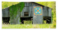 Kentucky Barn Quilt - Thunder And Lightening Hand Towel