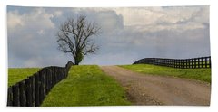 Kentucky Horse Farm Road Hand Towel