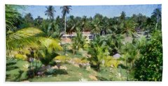 Kerala Landscape Hand Towel
