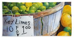 Hand Towel featuring the painting Key Limes Ten For A Dollar by Roger Rockefeller