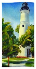 Key West Lighthouse Bath Towel by Shelia Kempf
