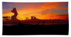Key West Sun Set Hand Towel by Iconic Images Art Gallery David Pucciarelli