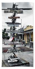 Key West Wharf Bath Towel