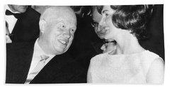 Khrushchev And Jackie Kennedy Bath Towel
