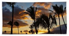 Bath Towel featuring the photograph Kihei At Dusk by Peggy Hughes