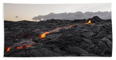 Kilauea Volcano 60 Foot Lava Flow - The Big Island Hawaii Bath Towel by Brian Harig
