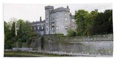 Kilkenny Castle Seen From River Nore Bath Towel