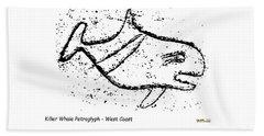 Killer Whale Petroglyph Hand Towel