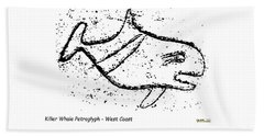 Killer Whale Petroglyph Bath Towel