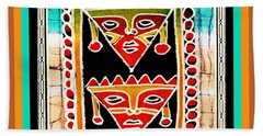 Hand Towel featuring the digital art King And Queen by Vagabond Folk Art - Virginia Vivier