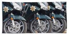 King County Police Motorcycle Bath Towel