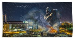 Hand Towel featuring the photograph King Kong By Ford Field by Nicholas  Grunas