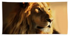 King Lion Of Africa Hand Towel
